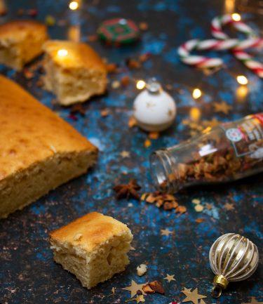gâteau verre de lait aux épices de Noël