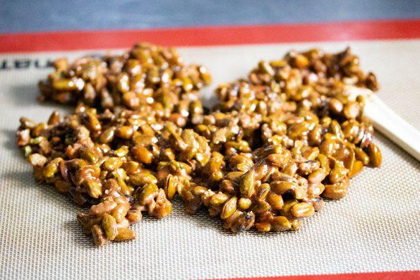 pistaches caramélisées praliné
