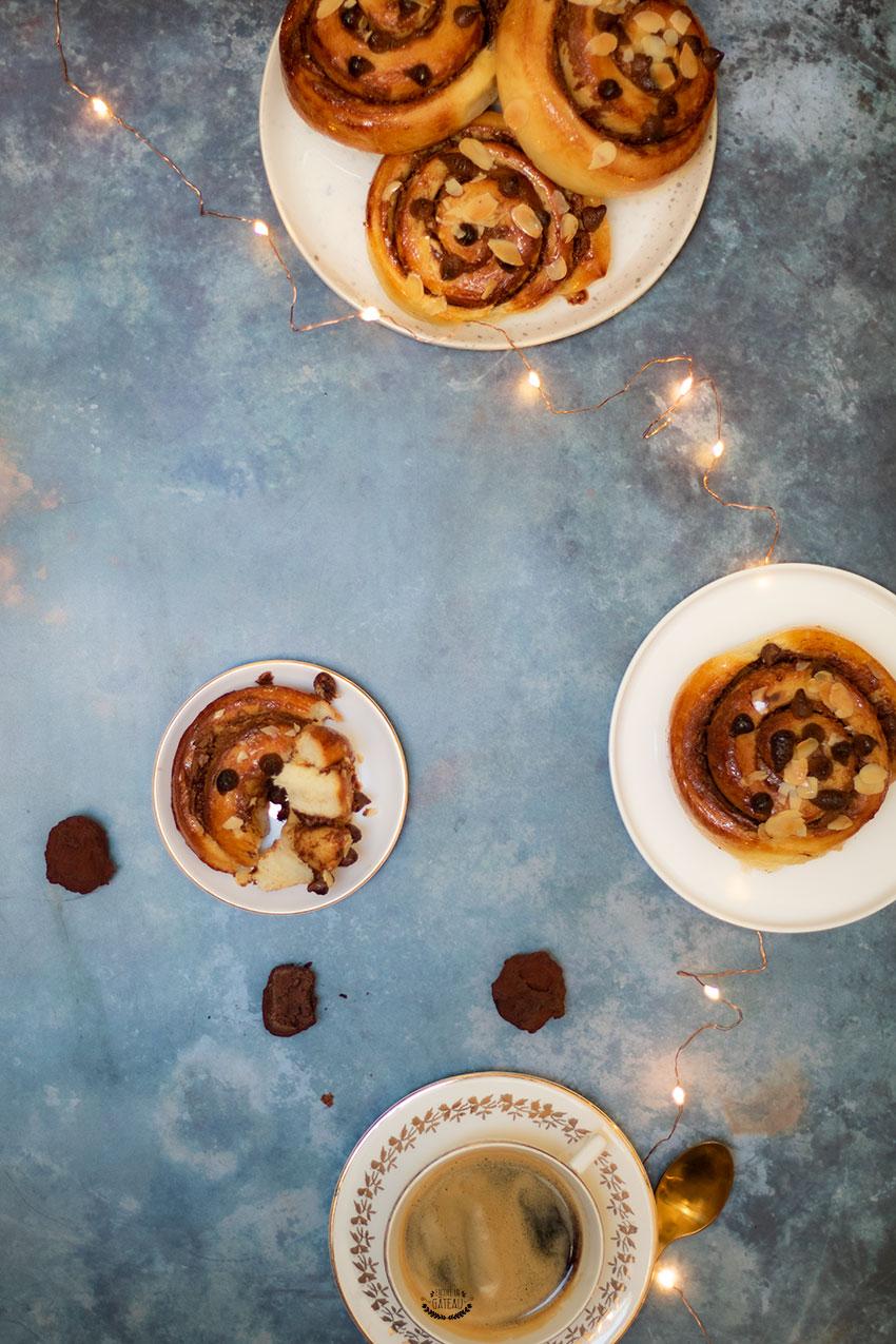 escargots briochés au praliné