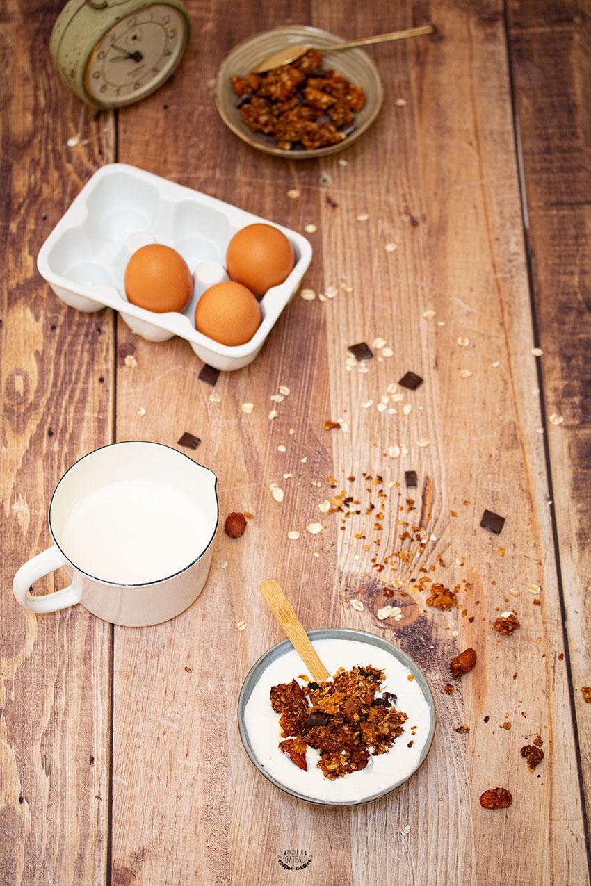 granola amandes chocolat