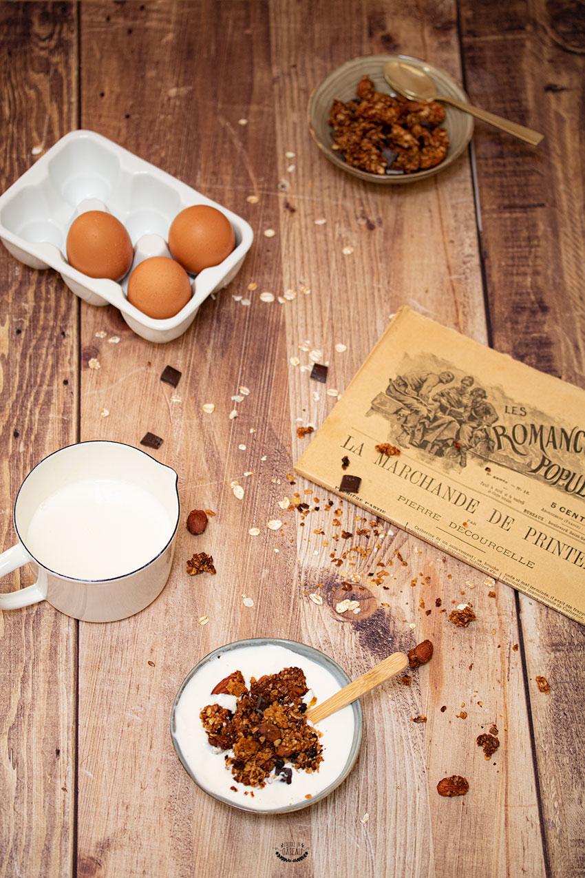 granola chocolat amandes