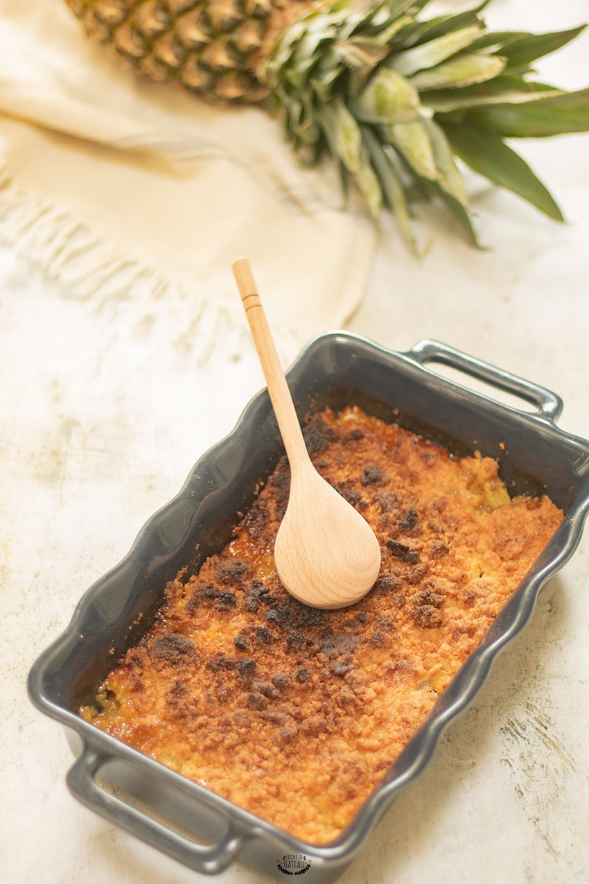 recette crumble ananas coco