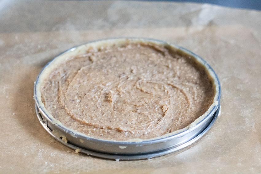 tarte chocolat noisette avant cuisson