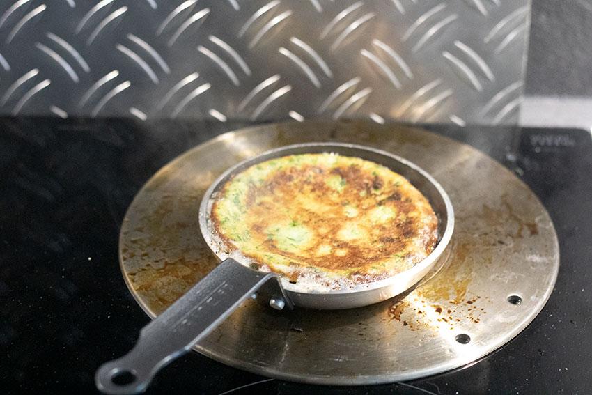 cuisson crêpes aux épinards