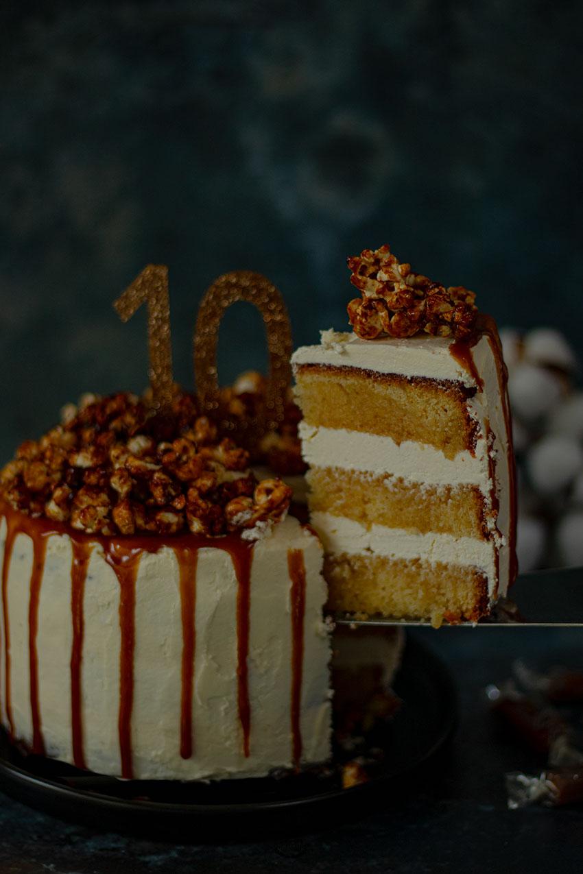 drip cake caramel pop corn recette