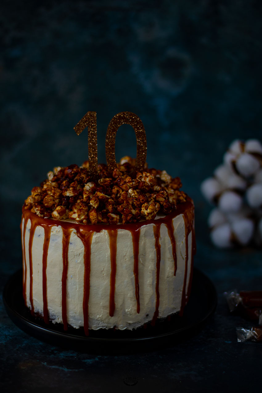 drip cake caramel pop-corn