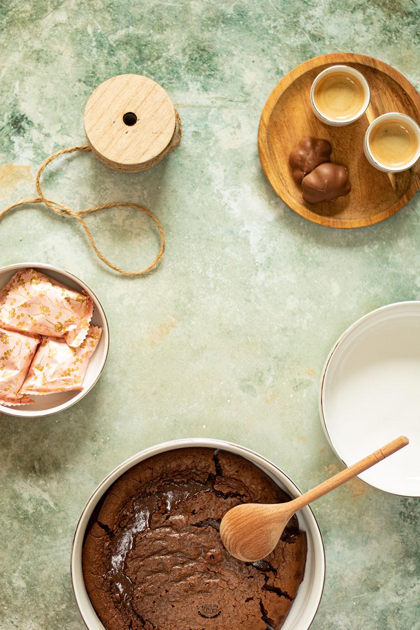 fondant au chocolat lait concentré sucré