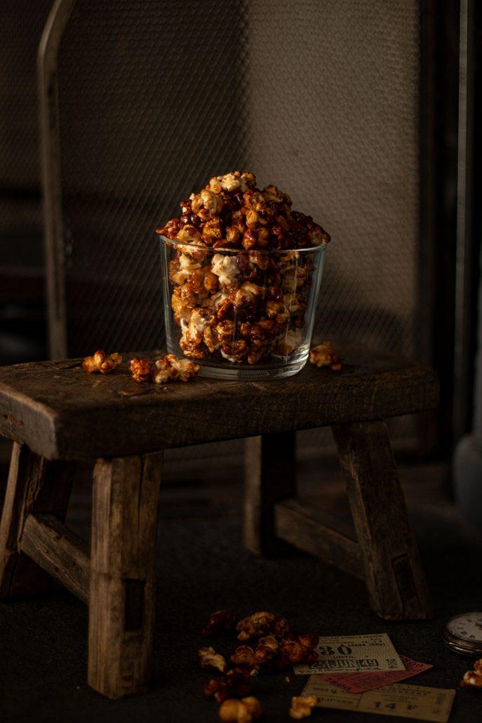 recette popcorn caramel