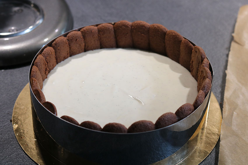 bavaroise vanille charlotte chocolat felder