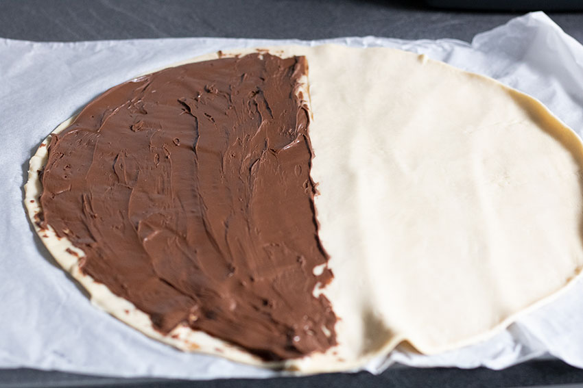pâte feuilletée gaufres fourrées chocolat
