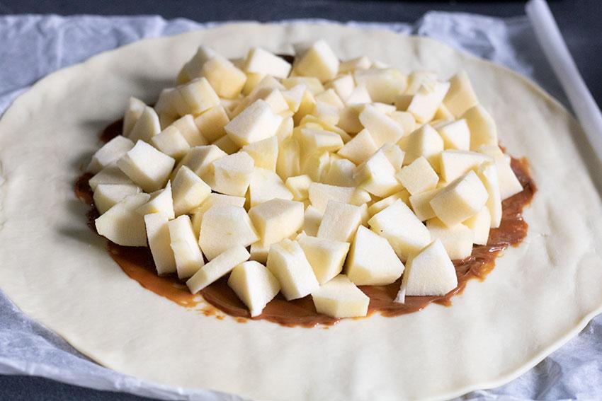 tarte rustique pommes caramel beurre salé