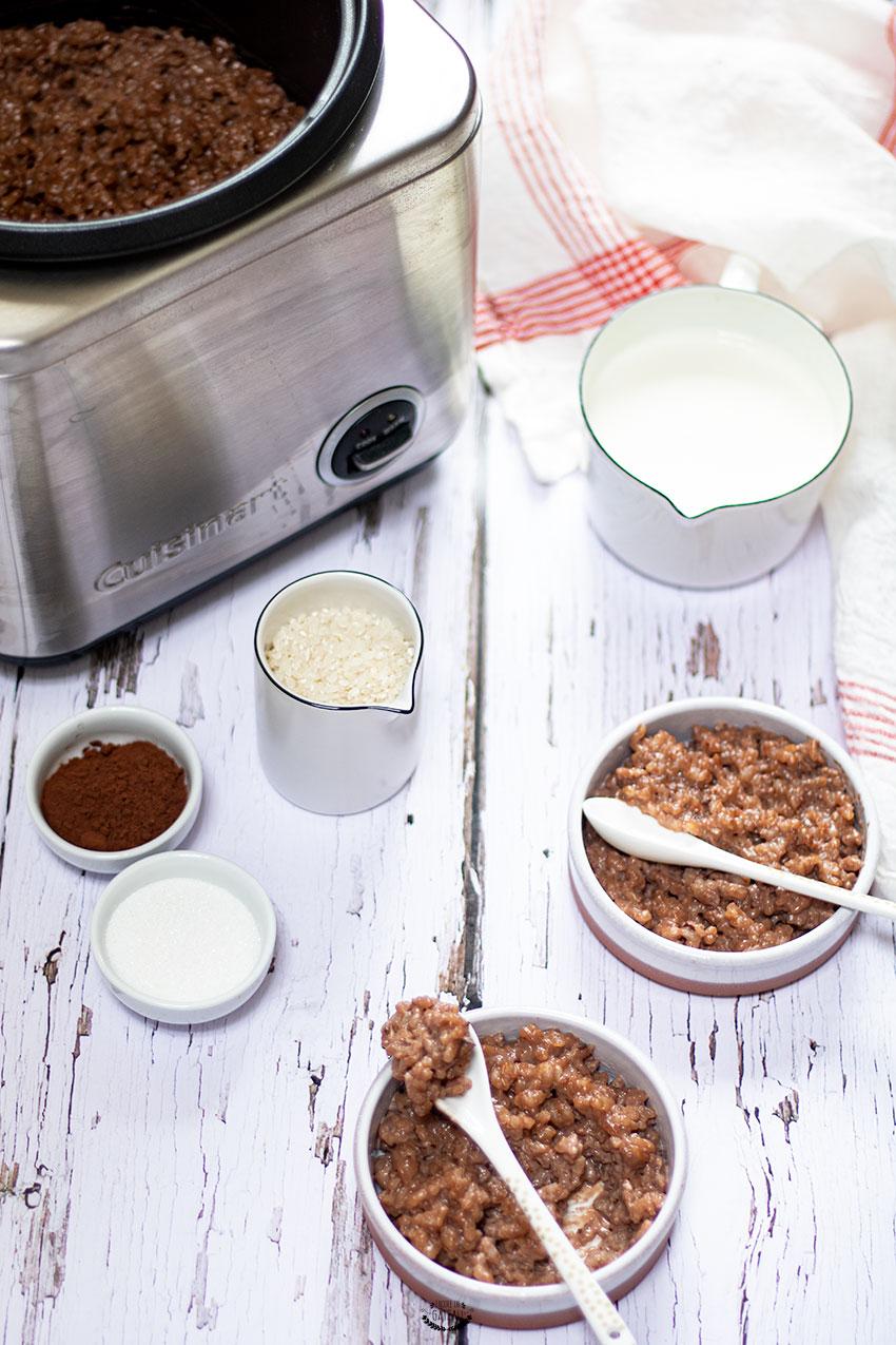 recette riz au lait chocolat rice cooker