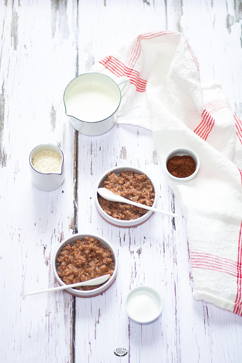 recette riz au lait chocolat