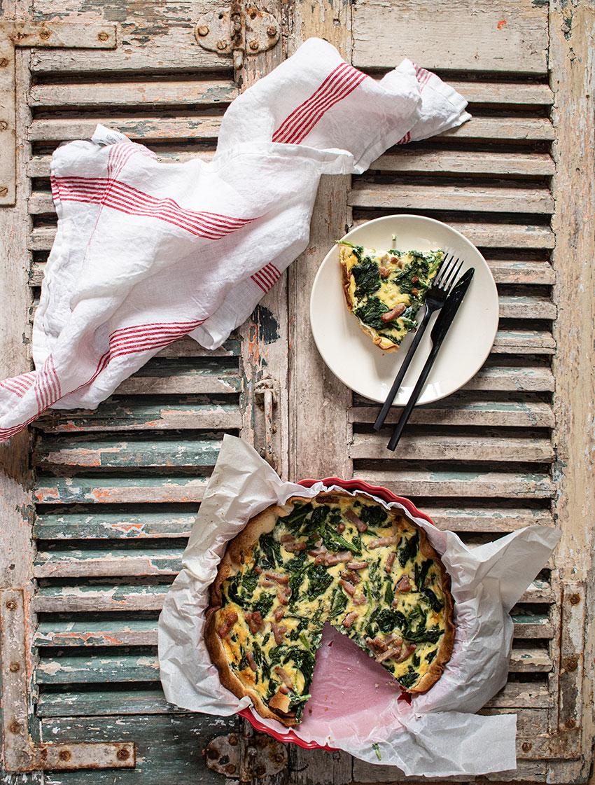 recette tarte épinards lardons
