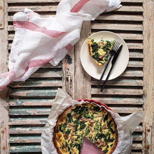 recette tarte lardons épinards