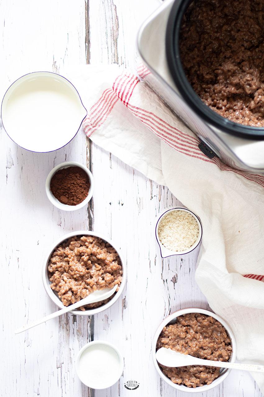 riz au lait chocolat rice cooker