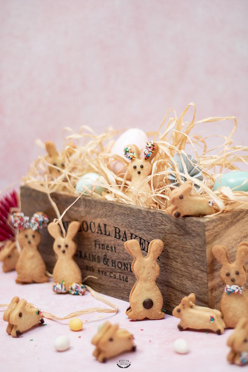 biscuits fourrés dulcey lapins pâques