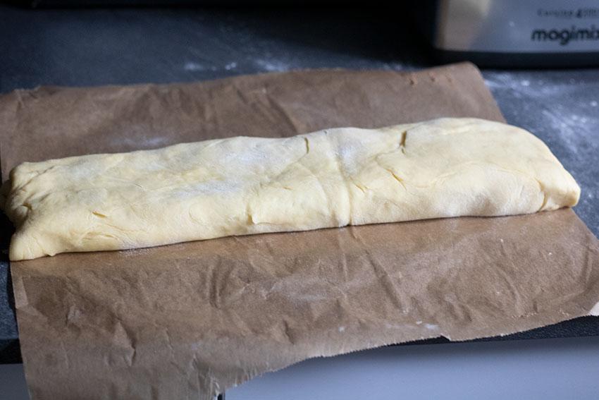 cinnamon roll avant découpe