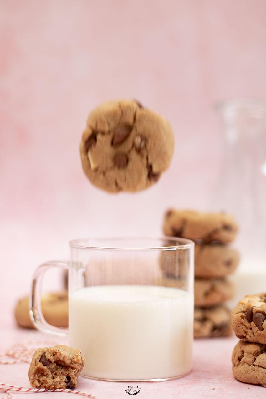 recette cookies noisette chocolat sans beurre