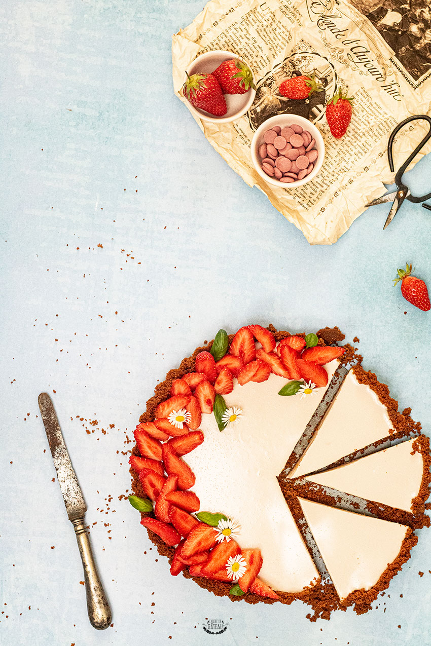 tarte sans cuisson à la fraise