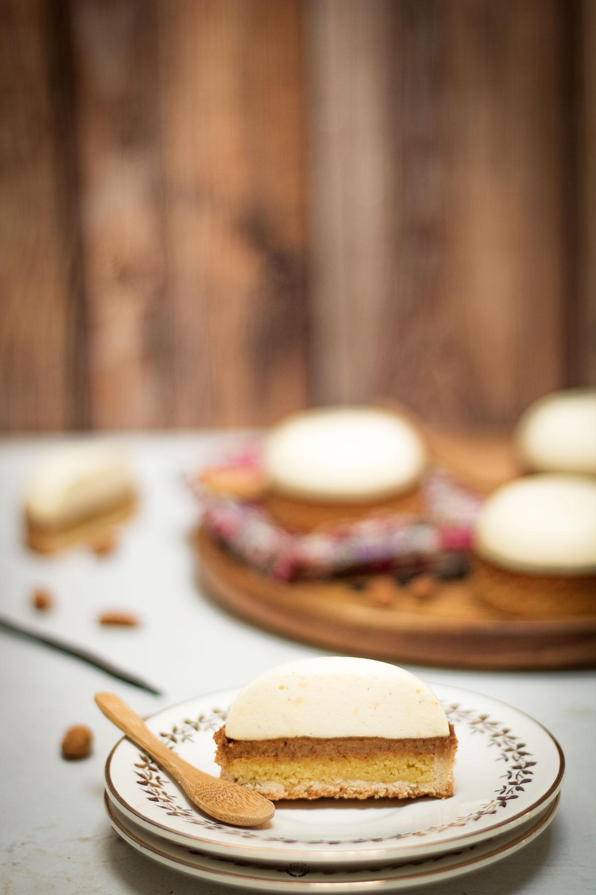 tartelettes entremets vanille praliné
