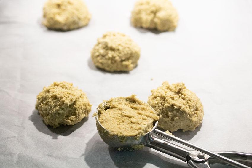 amaretti pistache avant cuisson
