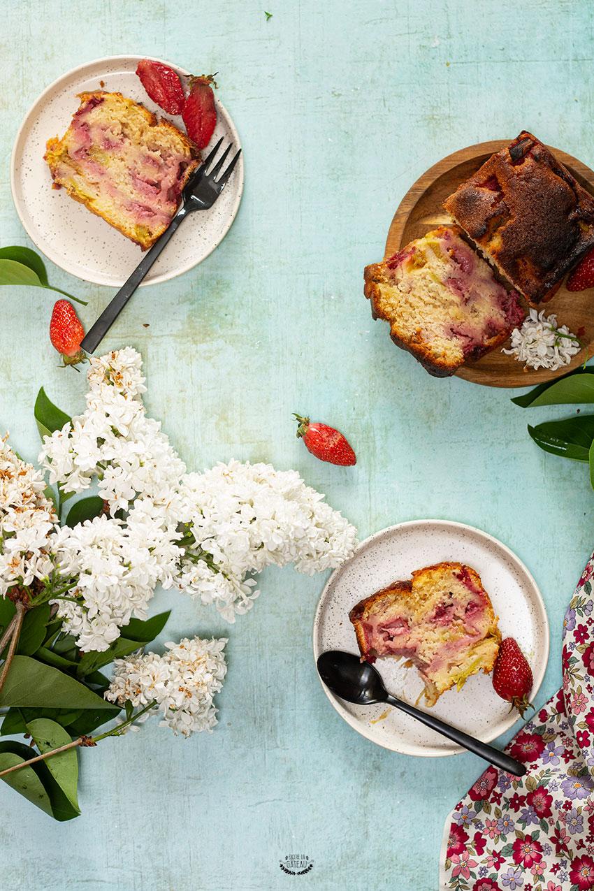 cake rhubarbe fraise