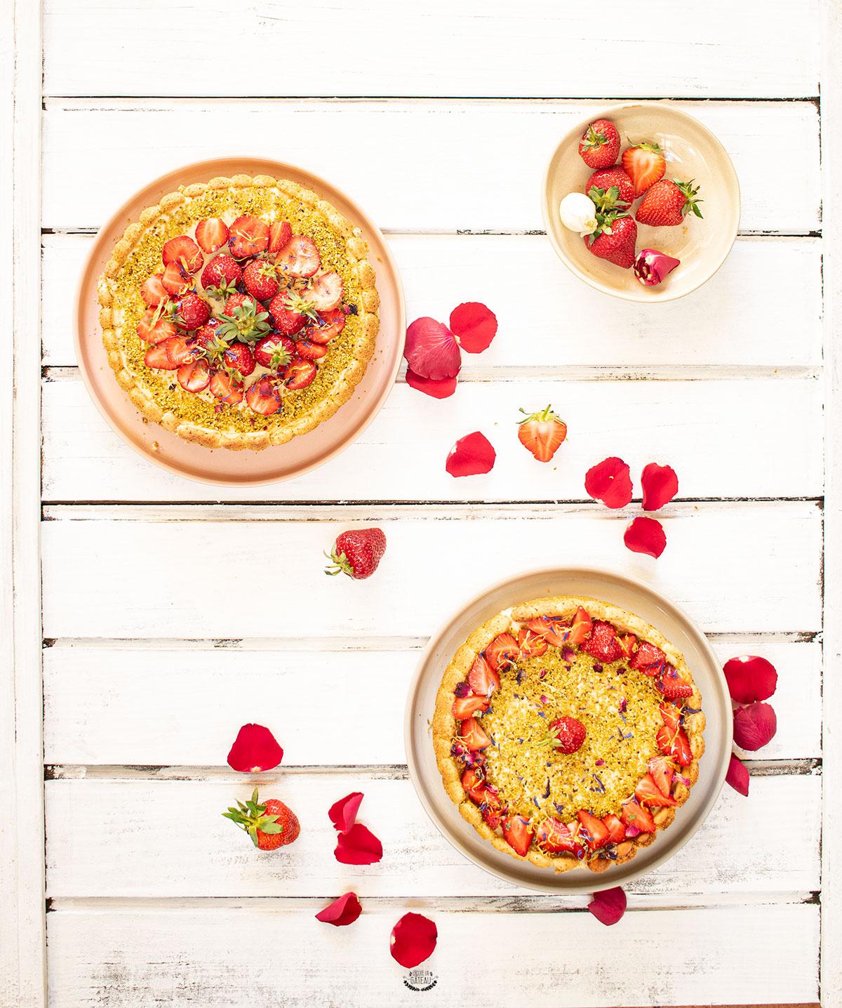 charlotte fraise pistache recette