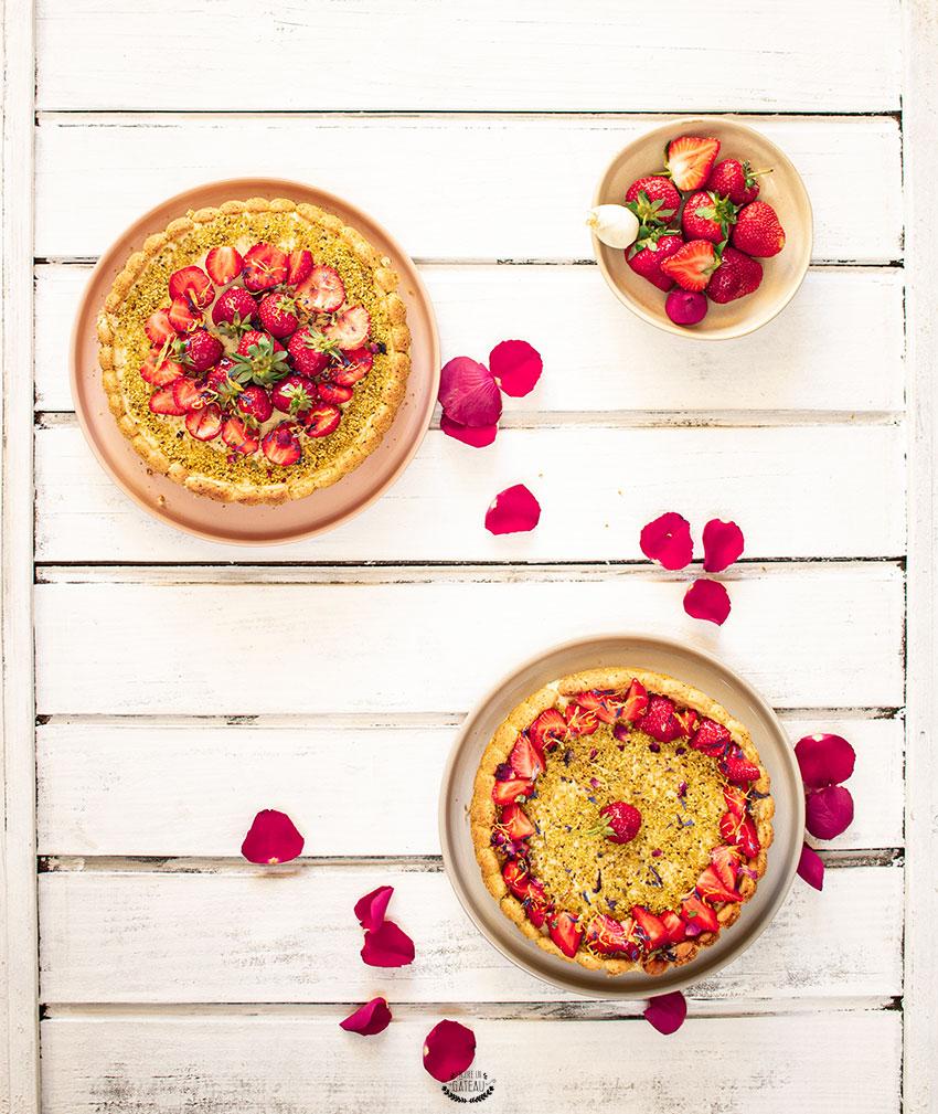 charlotte fraise pistache