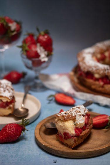 choux crème chiboust fraise