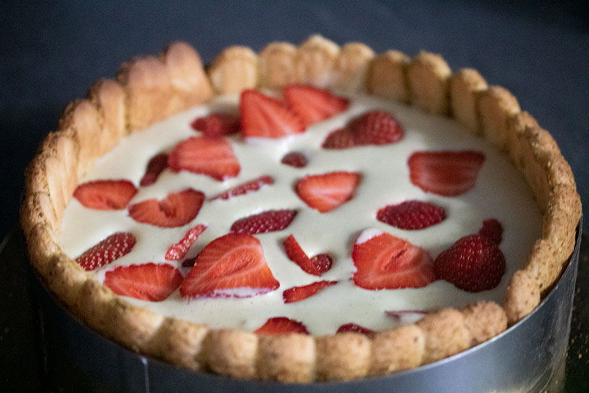 fraises charlotte pistache