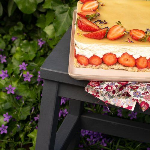 fraisier chocolat blanc noisette eddie benghanem