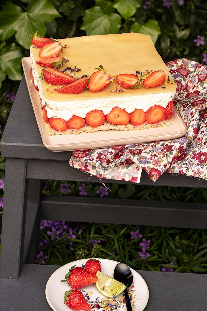 fraisier noisette chocolat blanc benghanem