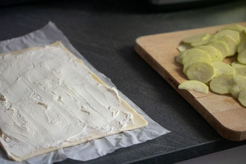 ingrédients tarte fine courgette