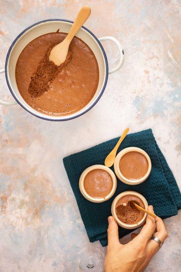 mousse au chocolat lait de coco yann couvreur