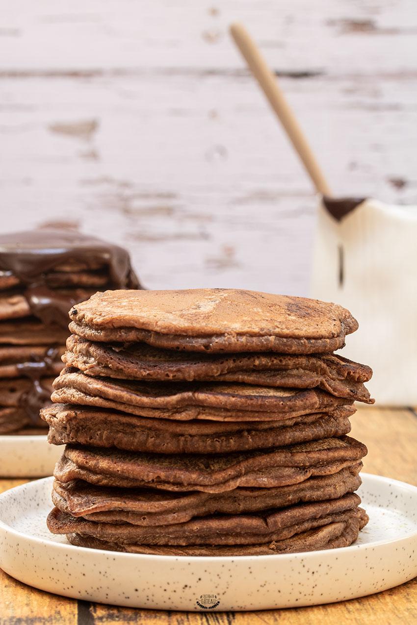 faire des pancakes au chocolat