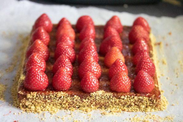 pistache tarte fraise michalak