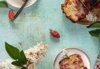 recette cake fraise rhubarbe