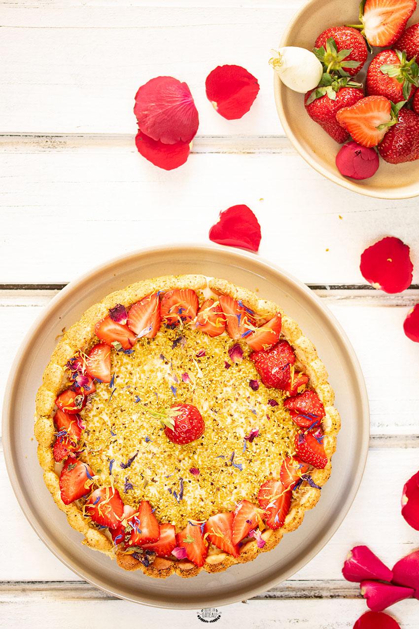 recette charlotte fraise pistache