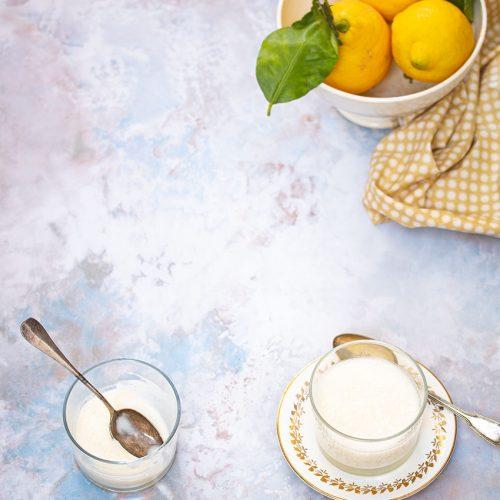 lemon posset crème citron sans oeufs