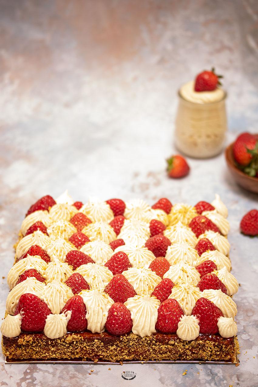 recette michalak tarte fraise pistache