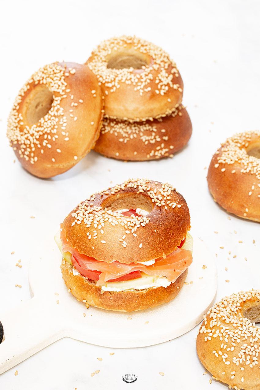 recette pain bagel
