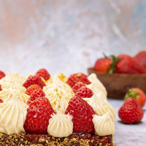 tarte fraises pistache michalak