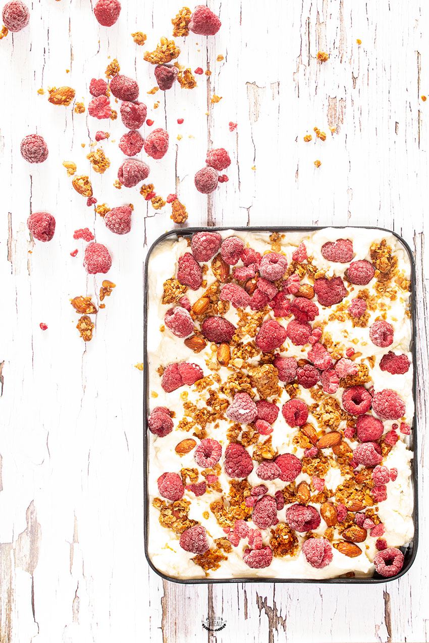 yaourt glacé framboise granola