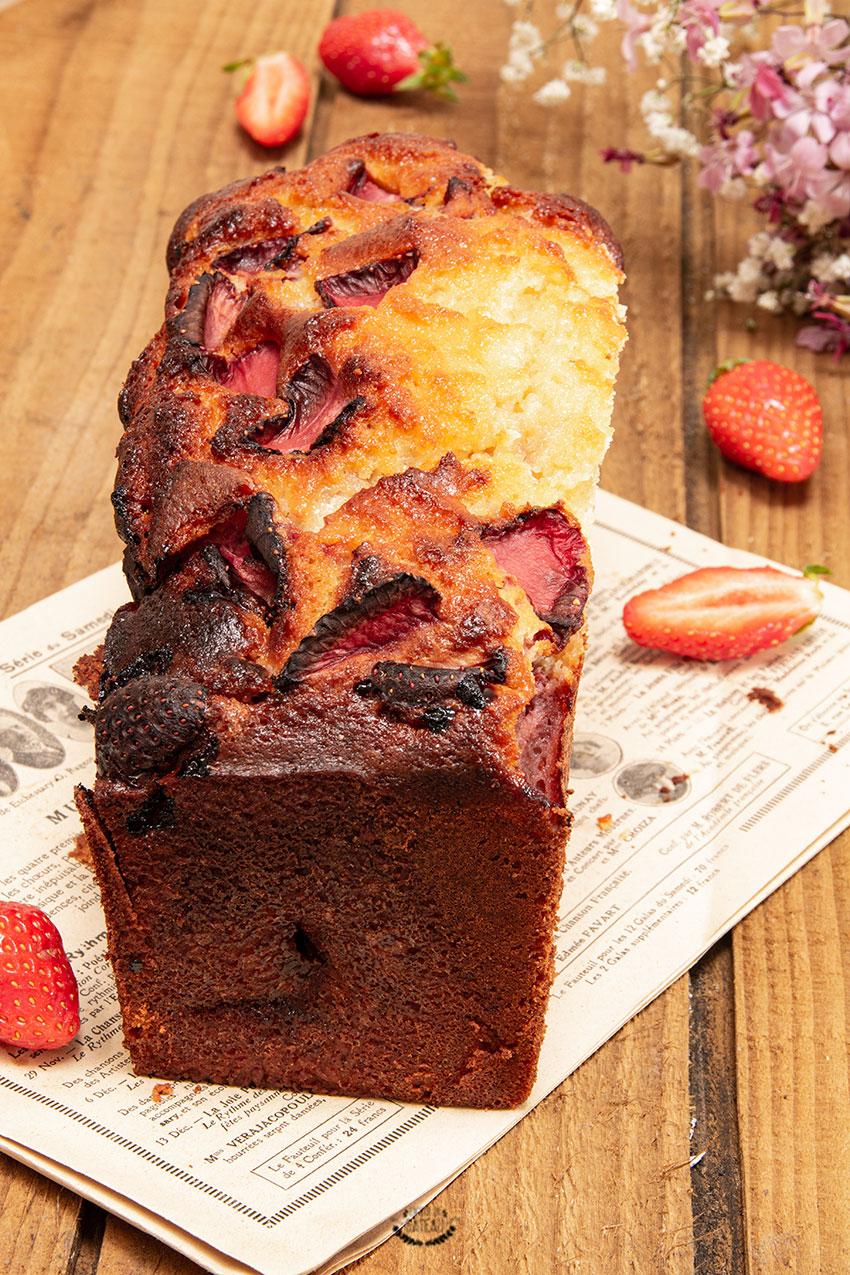 cake amande fraise