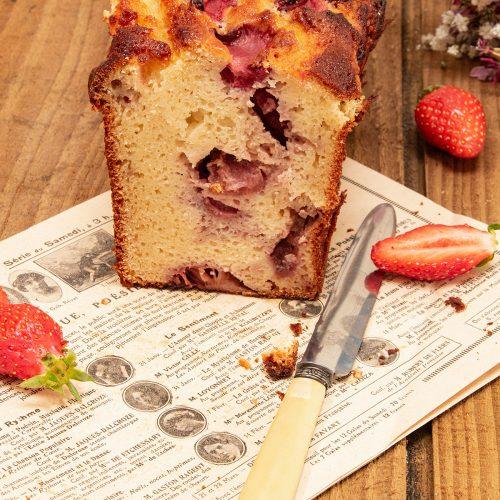 cake ricotta amande fraise