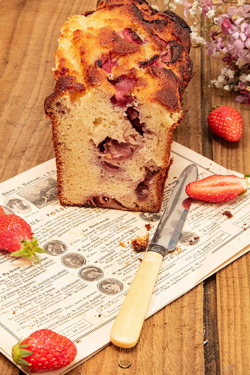 cake ricotta fraise amande