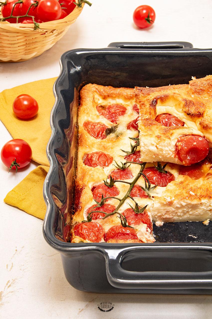 clafoutis tomates cerises parmesan