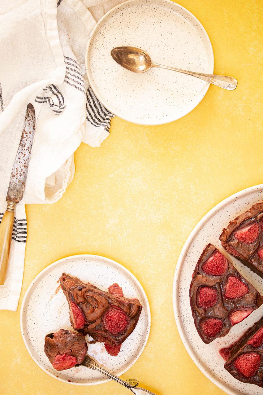 fondant chocolat fraise