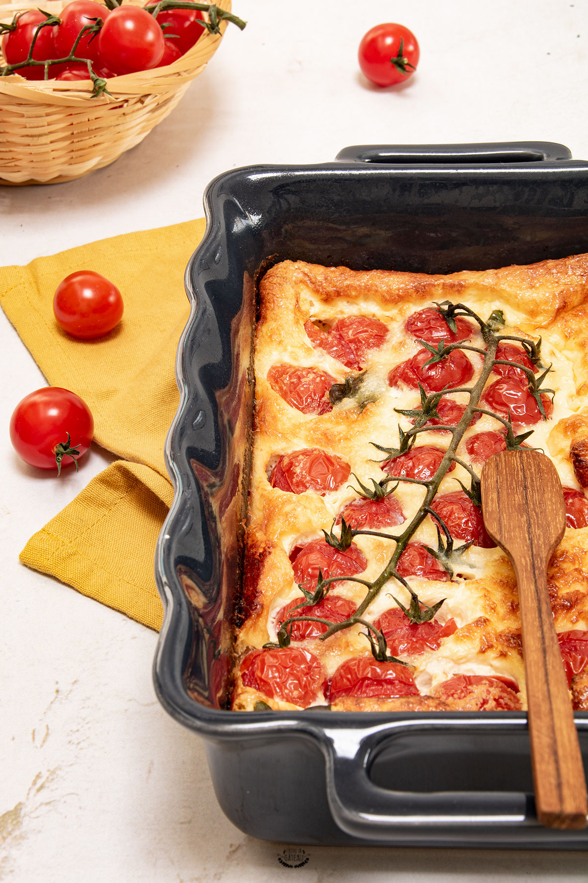 recette clafoutis tomate cerise